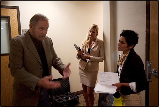Gil Gerard, Brandi Lynn Anderson and Natalie M. Garcia in character.
